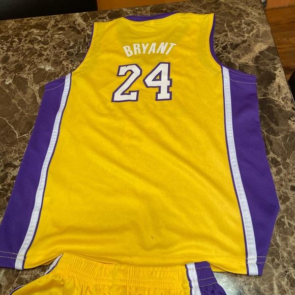 Lakers Kobe Bryant jersey and shorts set